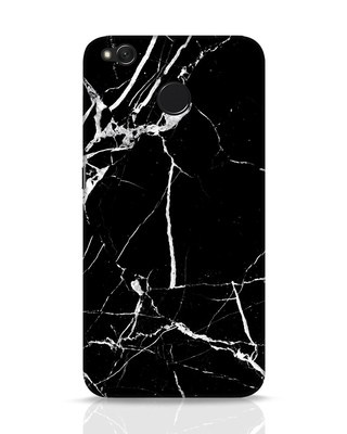 Shop Black Marble Xiaomi Redmi 4 Mobile Cover-Front