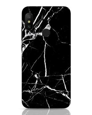 Shop Black Marble Xiaomi Redmi 6 Pro Mobile Cover-Front