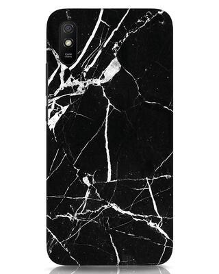 Shop Black Marble Xiaomi Redmi 9A Mobile Cover-Front