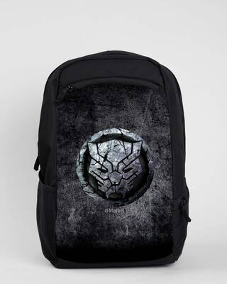 Shop Black Panther Stone Logo (AVL) Laptop Backpack Black-Front