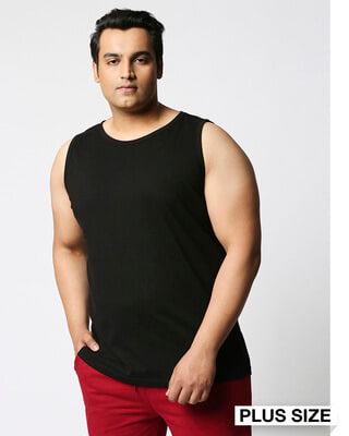 Shop Black Plus Size Vest-Front