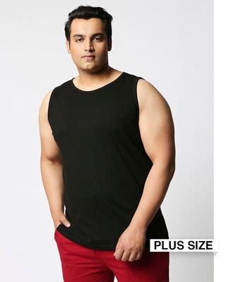 Shop Black Plus Size Vest-Front