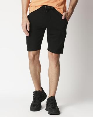 Shop Black Solid Short-Front