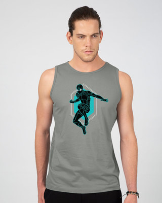 Shop Black Spidey Vest (FFHL)-Front