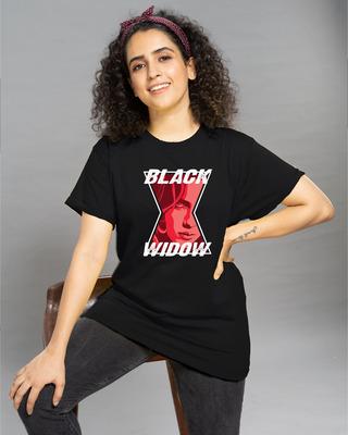 Shop Black Widow Spider Boyfriend T-Shirt (FFHL)-Front