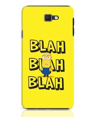 Shop Blah Blah Blah Minion Samsung Galaxy J7 Prime Mobile Cover-Front