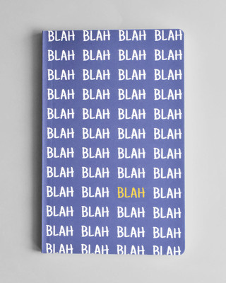 Shop Blah Blah Soft Bound Notebook-Front