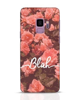 Shop Blah Samsung Galaxy S9 Mobile Cover-Front