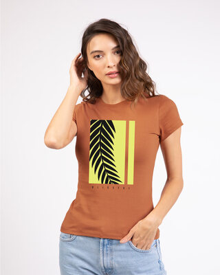 Shop Blissful Palm Tree Half Sleeve T-Shirt-Front
