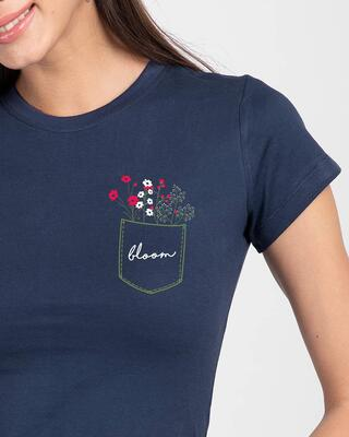 Shop Blooming Wildflowers Half Sleeve T-Shirt-Front