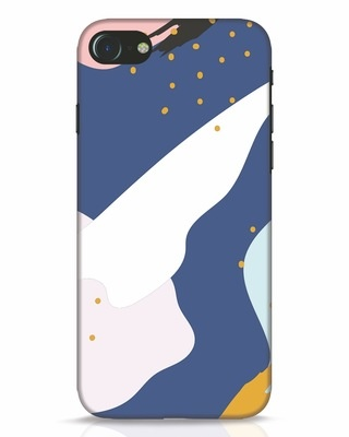 Shop Blue Abstract iPhone 7 Mobile Cover-Front