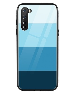 Shop Blue Color Block OnePlus Nord Mobile Cover-Front
