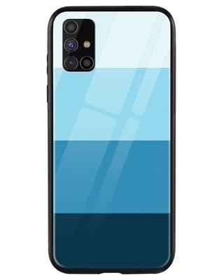 Shop Blue Color Block Samsung Galaxy M31s Mobile Cover-Front