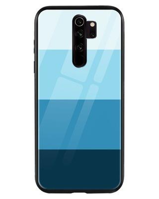 Shop Blue Color Block Xiaomi Redmi Note 8 Pro Mobile Cover-Front