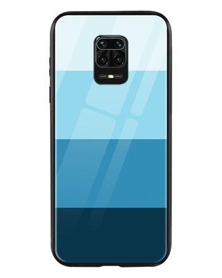 Shop Blue Color Block Xiaomi Redmi Note 9 Pro Max Mobile Cover-Front