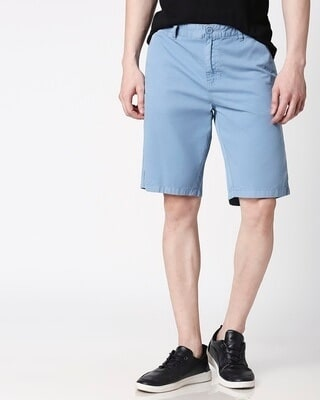 Shop Blue Dust Men's Shorts-Front