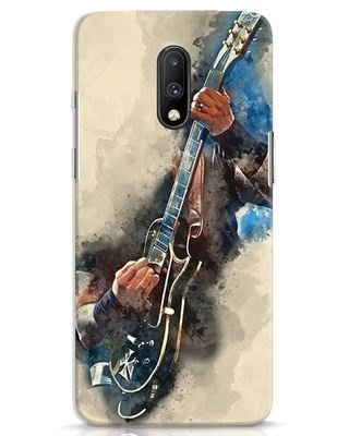 Shop Blue Guitar OnePlus 7 Mobile Cover-Front