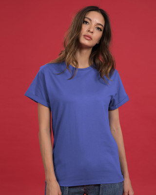 Shop Blue Haze Boyfriend T-Shirt-Front