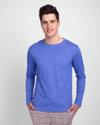 Shop Blue Haze Full Sleeve T-Shirt-Front