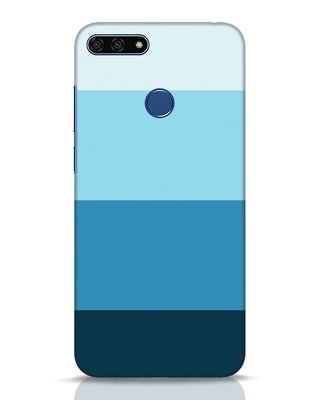 Shop Blue Ombre Stripes Huawei Honor 7A Mobile Cover-Front
