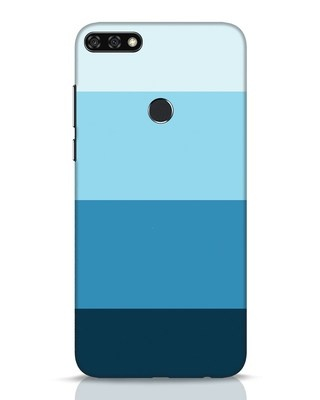 Shop Blue Ombre Stripes Huawei Honor 7C Mobile Cover-Front