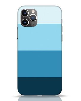 Shop Blue Ombre Stripes iPhone 11 Pro Mobile Cover-Front