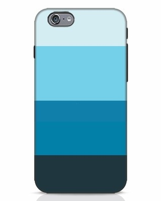 Shop Blue Ombre Stripes iPhone 6s Mobile Cover-Front