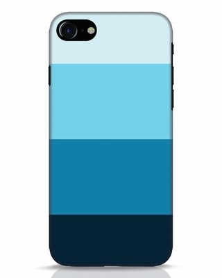 Shop Blue Ombre Stripes iPhone 7 Mobile Cover-Front