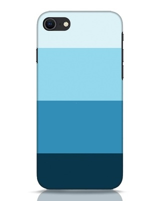 Shop Blue Ombre Stripes iPhone SE 2020 Mobile Cover-Front