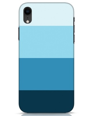 Shop Blue Ombre Stripes iPhone XR Mobile Cover-Front