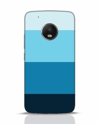 Shop Blue Ombre Stripes Moto G5 Plus Mobile Cover-Front