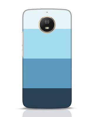 Shop Blue Ombre Stripes Moto G5s Mobile Cover-Front