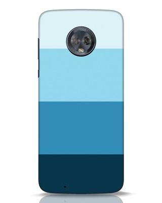 Shop Blue Ombre Stripes Moto G6 Mobile Cover-Front