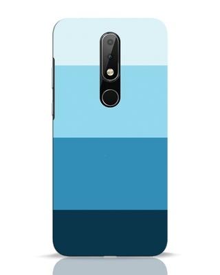 Shop Blue Ombre Stripes Nokia 6.1 Plus Mobile Cover-Front