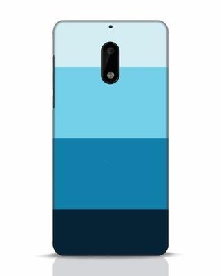 Shop Blue Ombre Stripes Nokia 6 Mobile Cover-Front