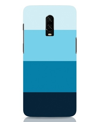 Shop Blue Ombre Stripes OnePlus 6T Mobile Cover-Front