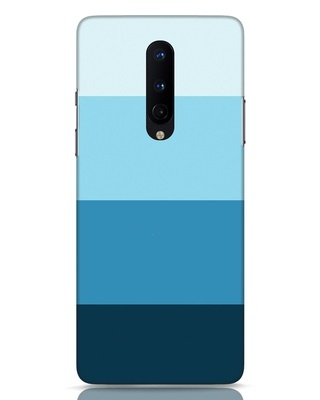 Shop Blue Ombre Stripes OnePlus 8 Mobile Cover-Front