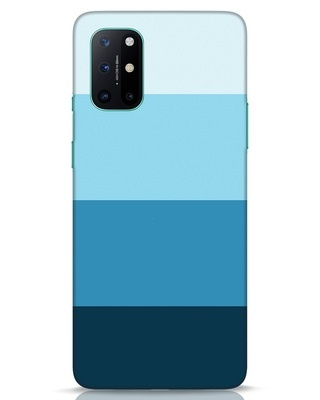 Shop Blue Ombre Stripes OnePlus 8T Mobile Cover-Front