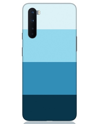 Shop Blue Ombre Stripes OnePlus Nord Mobile Cover-Front