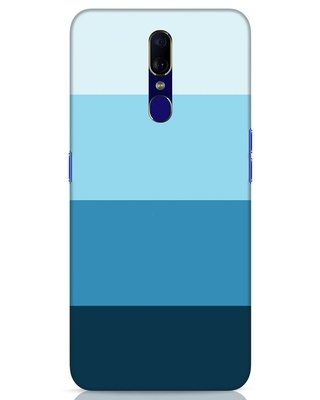 Shop Blue Ombre Stripes Oppo F11 Mobile Cover-Front