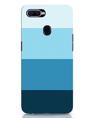 Shop Blue Ombre Stripes Oppo F9 Pro Mobile Cover-Front