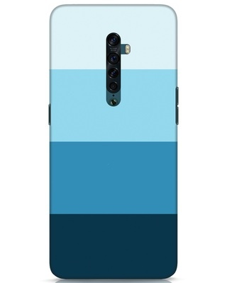 Shop Blue Ombre Stripes Oppo Reno 2 Mobile Cover-Front