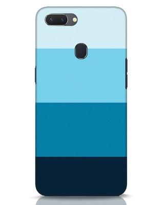 Shop Blue Ombre Stripes Realme 2 Mobile Cover-Front