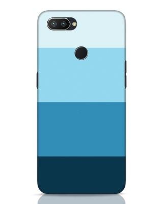 Shop Blue Ombre Stripes Realme 2 Pro Mobile Cover-Front