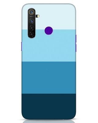 Shop Blue Ombre Stripes Realme 5 Pro Mobile Cover-Front
