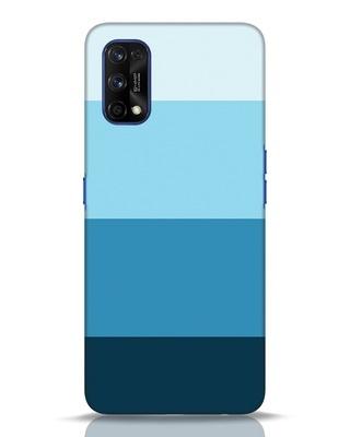 Shop Blue Ombre Stripes Realme 7 pro Mobile Cover-Front