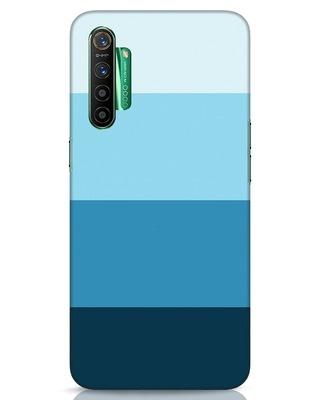 Shop Blue Ombre Stripes Realme X2 Mobile Cover-Front