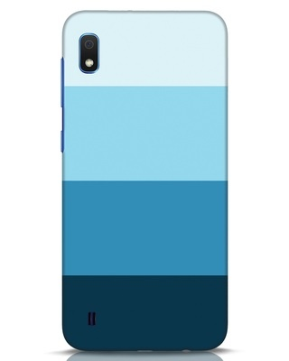 Shop Blue Ombre Stripes Samsung Galaxy A10 Mobile Cover-Front
