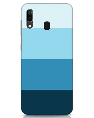 Shop Blue Ombre Stripes Samsung Galaxy A30 Mobile Cover-Front