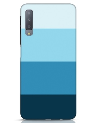 Shop Blue Ombre Stripes Samsung Galaxy A7 Mobile Cover-Front
